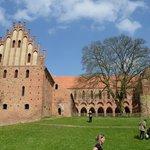 Bilck zum Kosterhof, mit einem der schönsten Bergahorne Brandenburgs