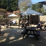 Our new beer-garden in the sun :)