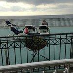 Vy från balkongen på vån. 1. Soldäck för hotellets gäster