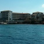 View at hotel from the sea side