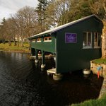 External view of The Boathouse from shore of Loch Ness
