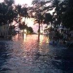 Phuket Sunset over the pool