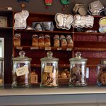 Bread and cookie selection at Jean Pascal La Boutique store