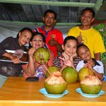 Coconut shop family just down the road