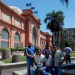 Our Team with Mr Emad at Cairo Museum
