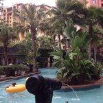 Lazy river at one of the many pools