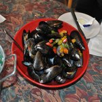 Our Mussels . . . steamed to perfection . . . Great Appetizer or Lunch