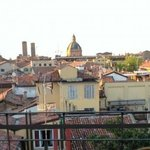 View of Bologna from the rooftop terrece.