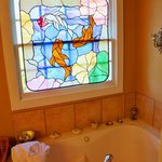 Captain's Bay whirlpool stained glass window.