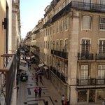 Vista desde el 2do piso, hacia Praça do Comércio