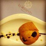 Chocolate / Raisin muffin top at turndown