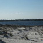 beach on bay side (Big Lagoon State Park in the distance)