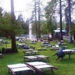 Parco e lettini