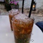 Bebidas en la terraza