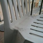 The chair in the balcony was not cleaned for ages