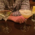 Dirty Martini (left) and Coconut Pineapple Martini