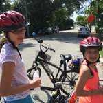 My girls having a great time on LLoyd's Tropical Bike Tour