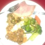 Dinner : ham, veggies, sweet chilli chicken, fresh herbed fish