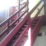 Stairs to room 222