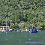 Bucht mit Tago Mago (rot-oranges Haus weiter oben)