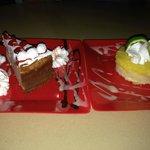 Guava cheesecake & lemon tart