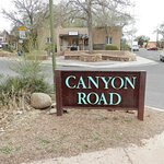 Entrance to Canyon Road
