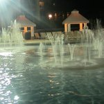 Cascades pool at night