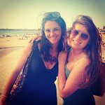 lovely Ana and me on the beach in Porto