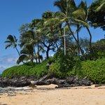 Cross at Secret Beach in Wailea, Maui