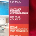 Spa rates