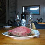 Prime Rib and Excellent Silver Oaks Wine