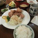 Fried chicken set lunch