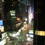Amazing view of Times Square from our room