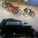 Vintage bikes and car