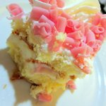 White Chocolate Strawberry and Kiwi Cake