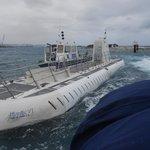 Atlantis submarine Aruba surfaced
