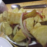 The bacon and onion potatoes - delicious!