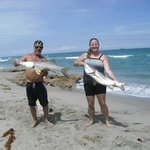 Mark and Coco with monster snook.
