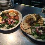 Cod Platter & Bifteki Platter