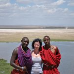 Andrew, me and Daniel in Amboseli