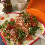 Bruschette with Proscuitto Parma and ruccola.