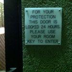 No lock in 24-hour security door