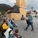 Jake teaches the kids the history of this little chapel in Partenkirchen.