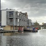 Our townhouse on the canalside