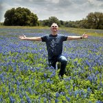 View of the Bluebonnets in full bloom at the ranch