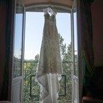 Dress in Window of Suite