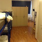 Room 8 beds - lockers and room view