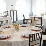 The dining hall is also available for weddings, parties, and special events.