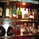 Great collection of scotch and cognac