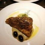 Trancio di pesce bianco in crema di finocchi